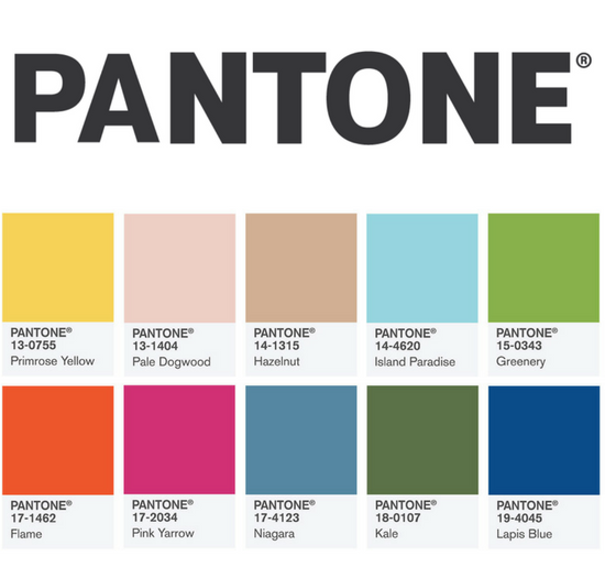 Pantone Colour Report for Spring 2017 - Blog for Wedding Industry ...